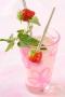 Milkshake fraise-mélisse