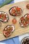 Bruschettas tomate, thon, ricotta