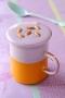 Cappuccino de potiron et vitelotte