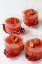 Crevettes grises en gelée de tomates