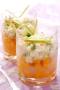 Tartare de Saint-Jacques et de mangue au citron vert